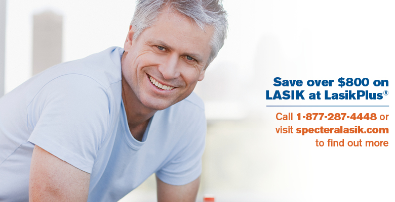 Save over $800 on Lasik at LasikPlus®.  Call 1-877-287-4448 or visit speceralasik.com to find out more.